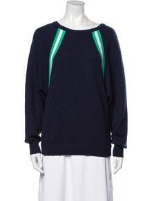 Allude Virgin Wool Bateau Neckline Sweater