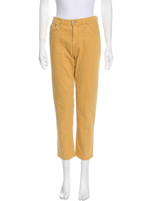 AG Mid-Rise Straight Leg Jeans Yellow