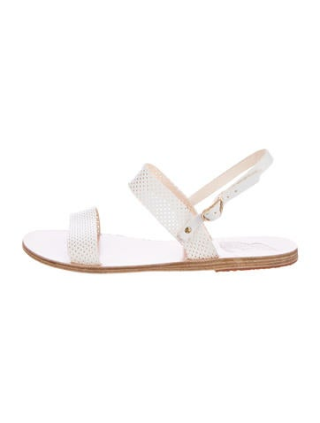 Perforated Leather Clio Sandals