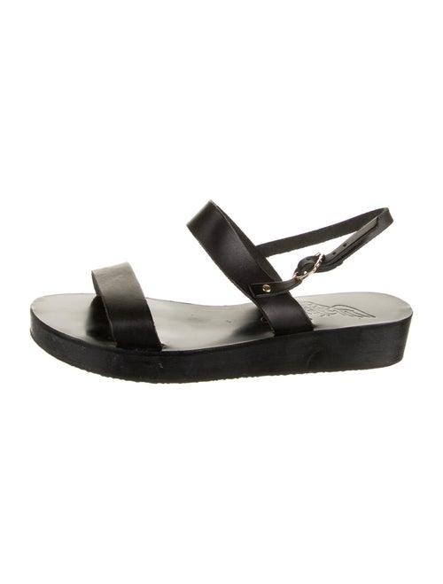 Ancient Greek Sandals Leather Sandals Black