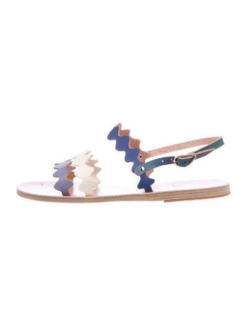 Ancient Greek Sandals Leather Colorblock Pattern S