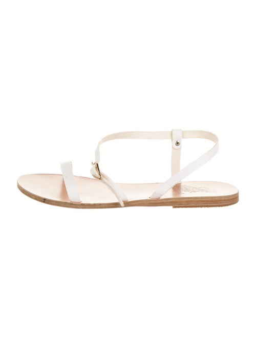 Ancient Greek Sandals Leather Sandals White