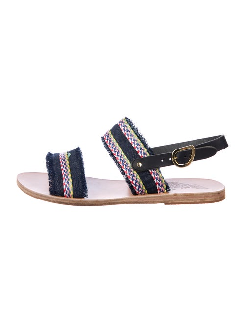 Ancient Greek Sandals Printed Embroidered Accent S
