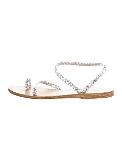 Ancient Greek Sandals Leather Sandals Silver