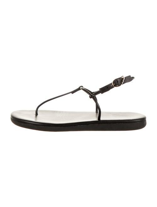 Ancient Greek Sandals Slingback Sandals Black