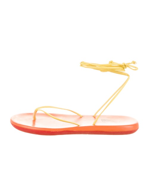 Ancient Greek Sandals Leather Sandals Yellow