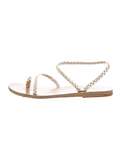 Ancient Greek Sandals Leather Braided Accents Sand