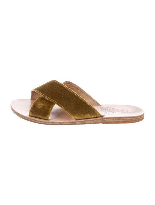 Ancient Greek Sandals Slides Green