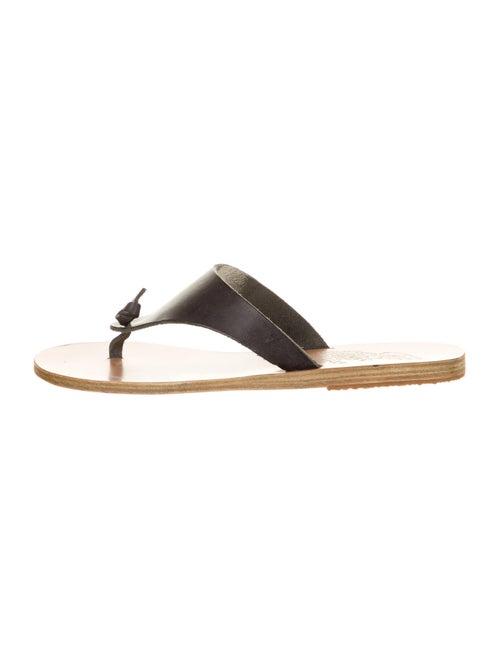 Ancient Greek Sandals Leather Slide Sandals