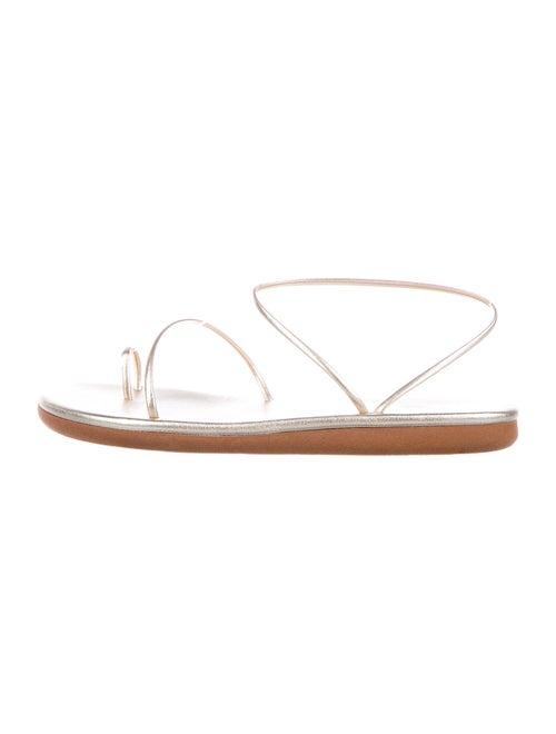 Ancient Greek Sandals Leather Sandals Gold