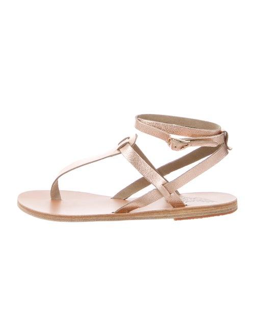 Ancient Greek Sandals Leather Sandals Metallic