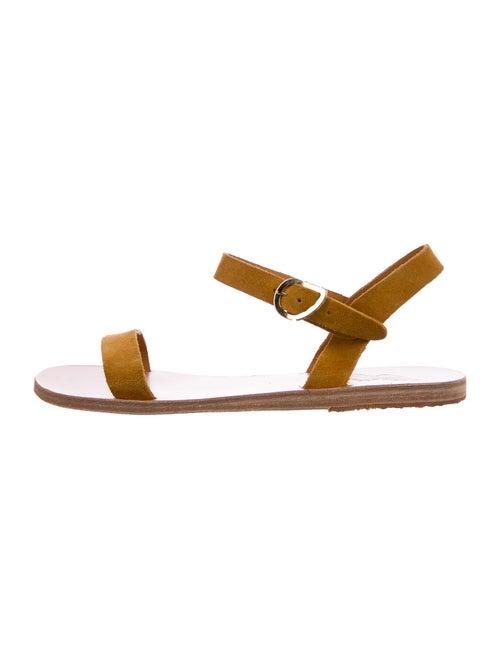 Ancient Greek Sandals Suede Sandals Yellow