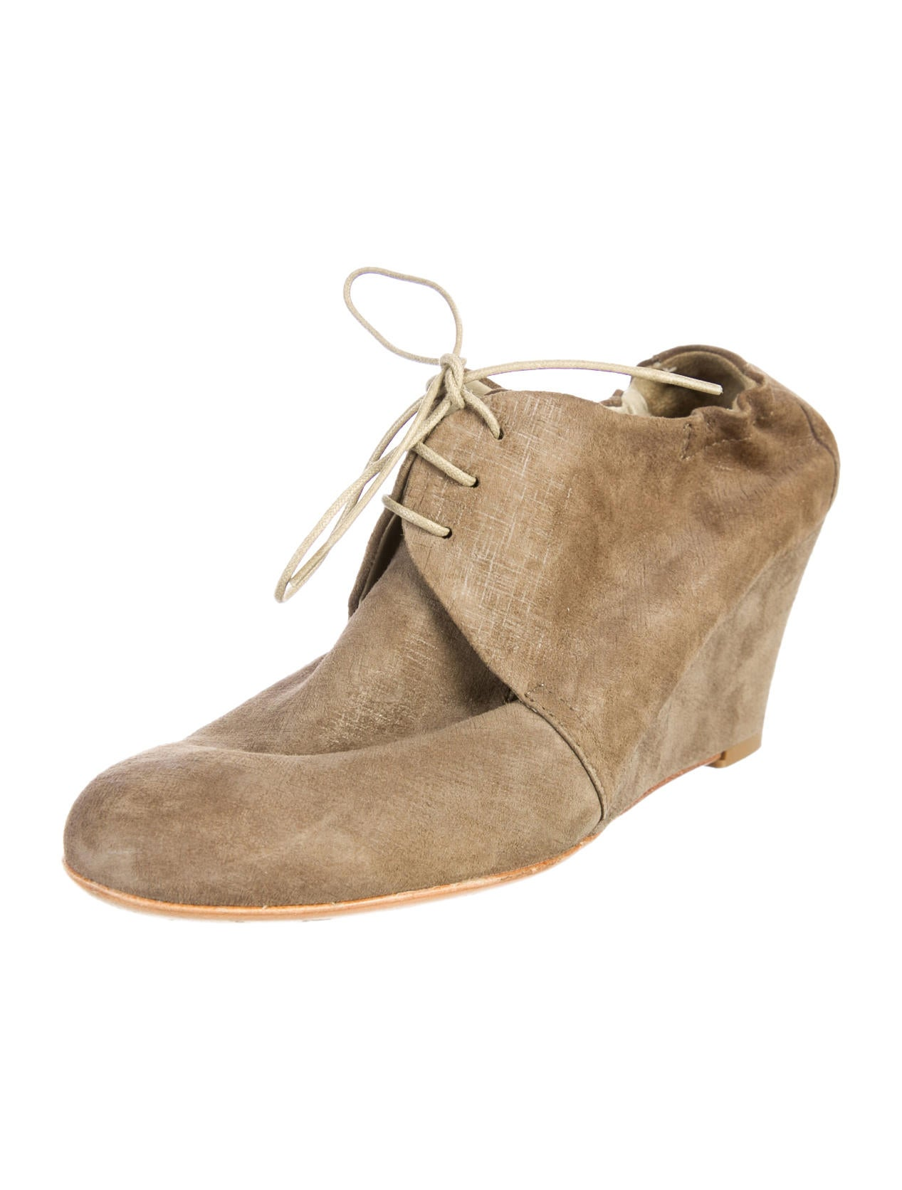 agl suede wedge booties shoes wagle20016 the realreal