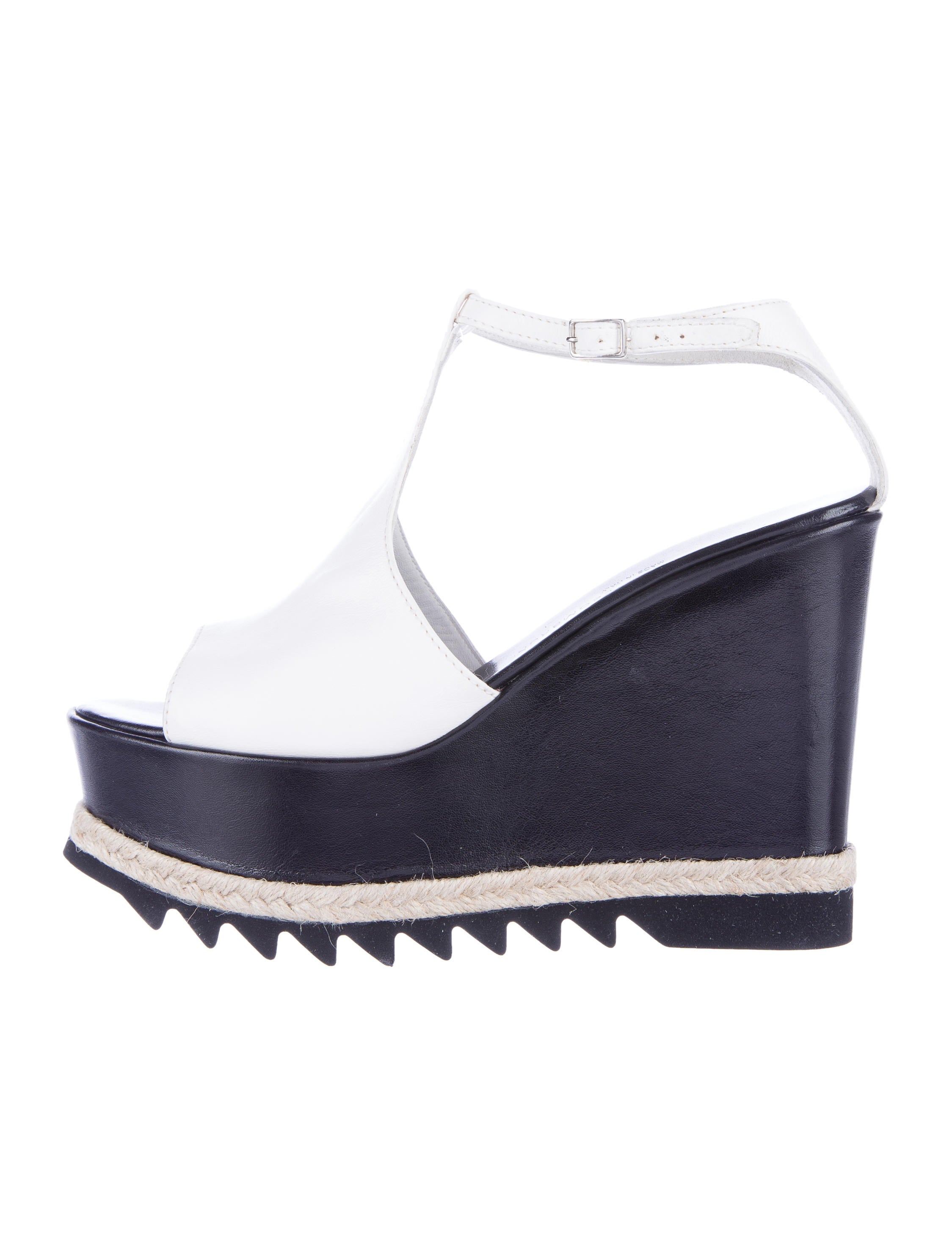 agl leather wedge sandals shoes wagle20086 the realreal