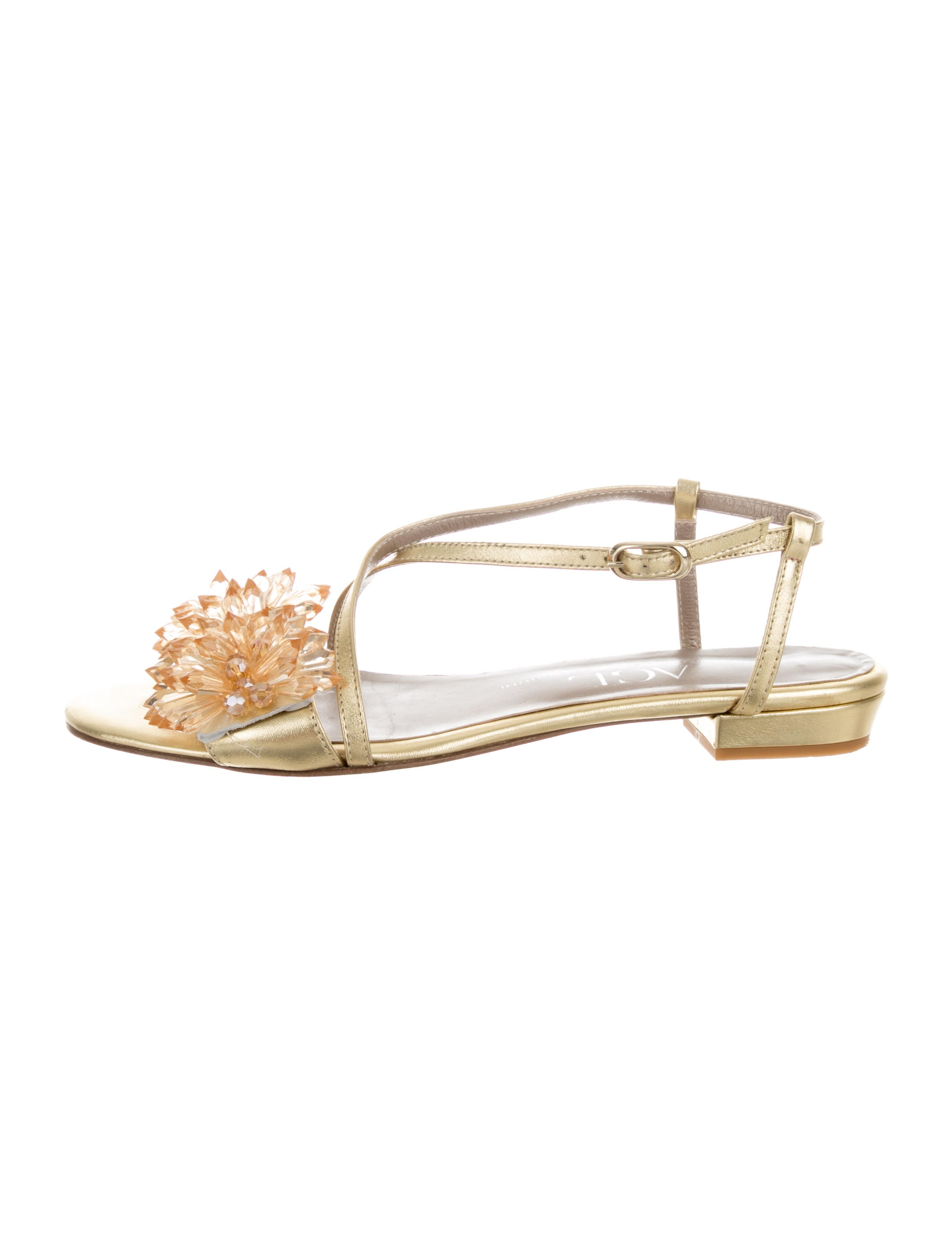 AGL Metallic Embellished Sandals