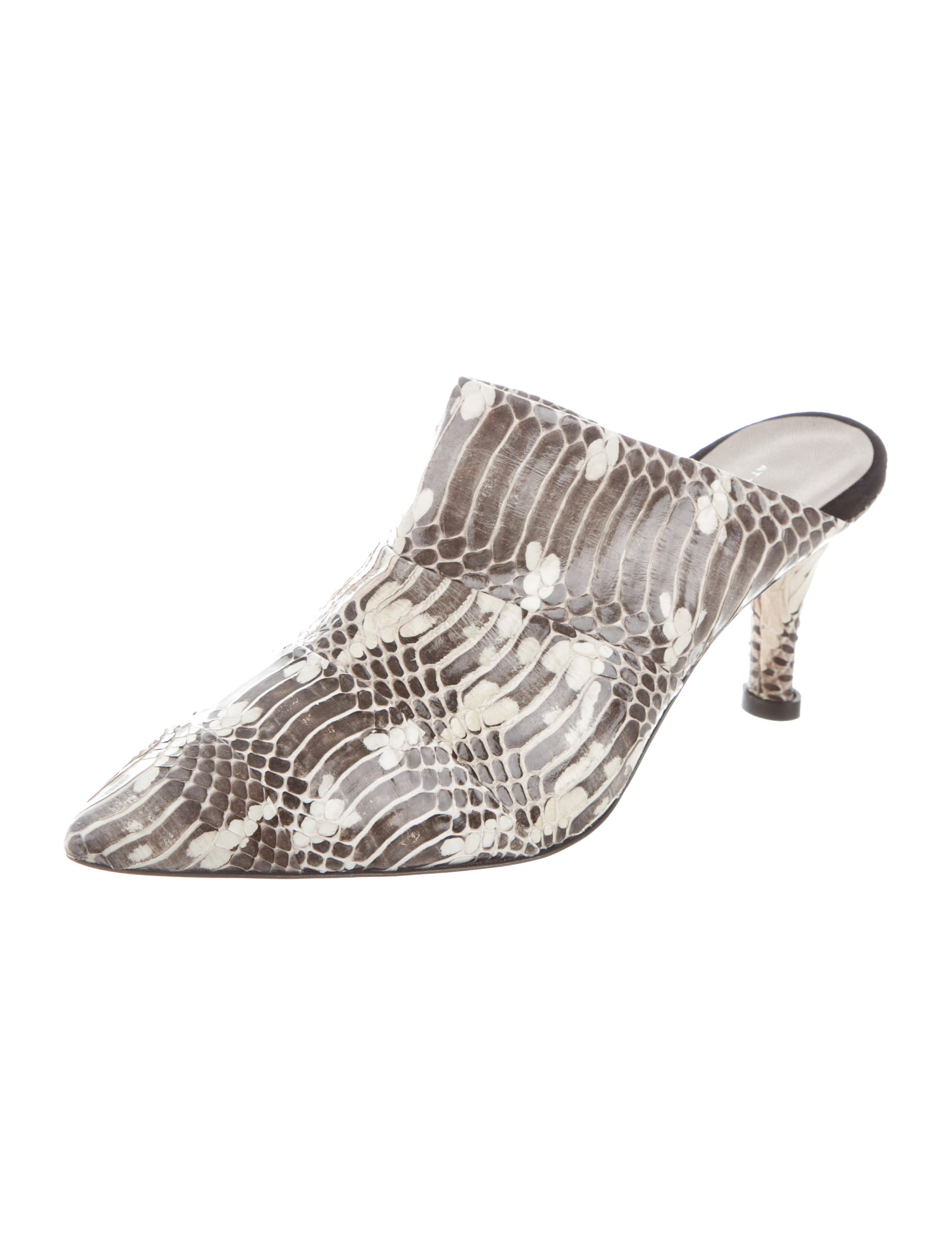 free shipping big sale for nice cheap price AGL Python Pointed-Toe Mules outlet free shipping qgELcgvGx