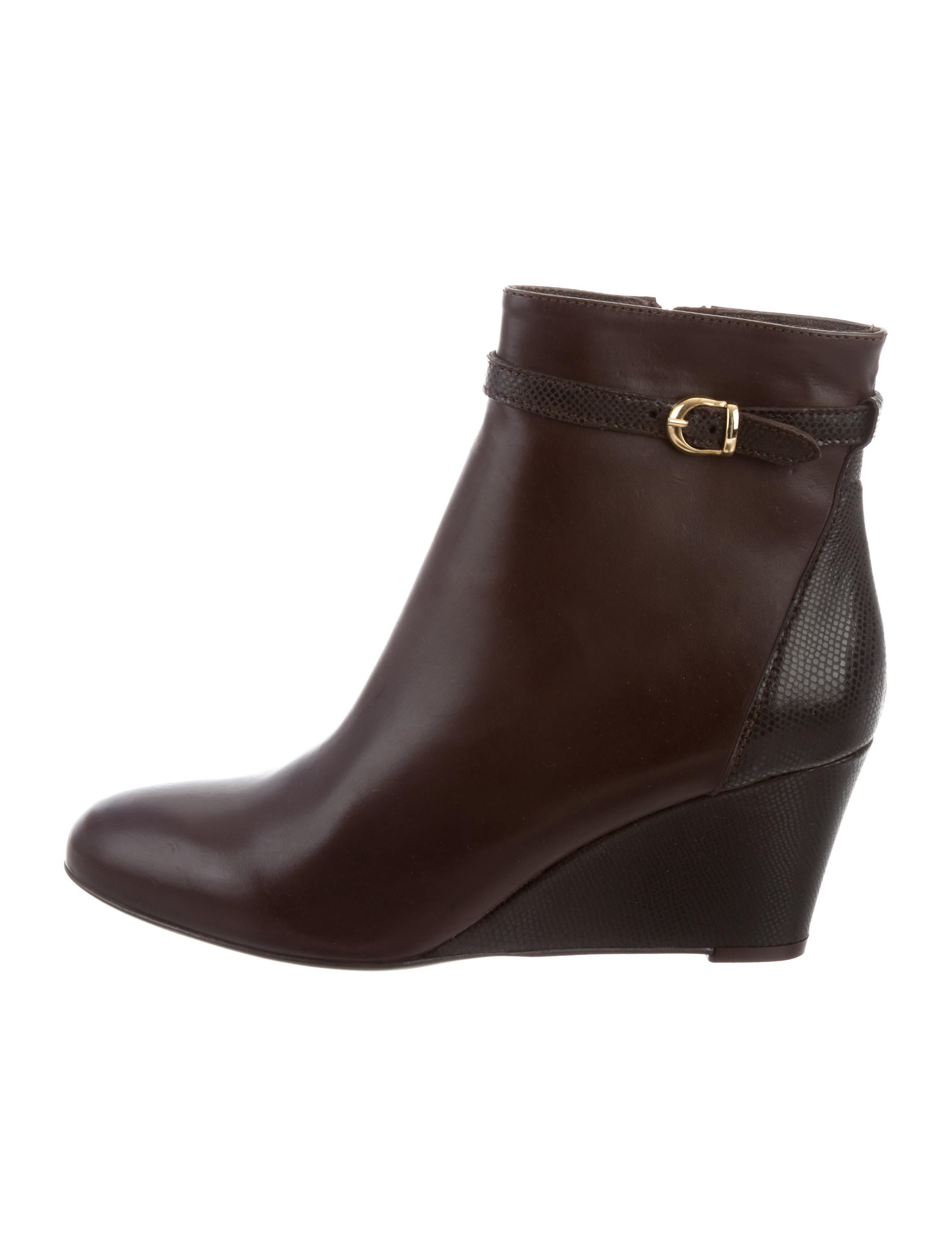 AGL Leather Wedge Ankle Boots w/ Tags