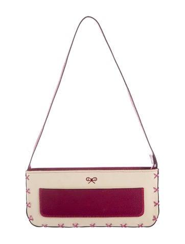 Leather-Trimmed Canvas Shoulder Bag