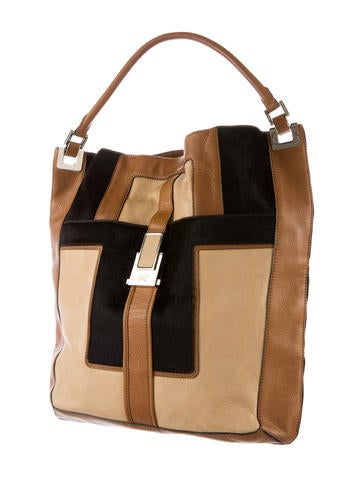 Ponyhair-Trimmed Tote