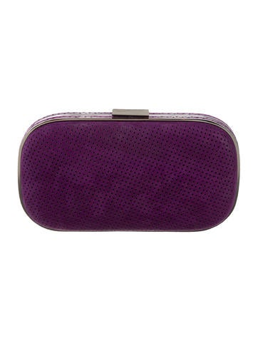 Perforated Suede Clutch
