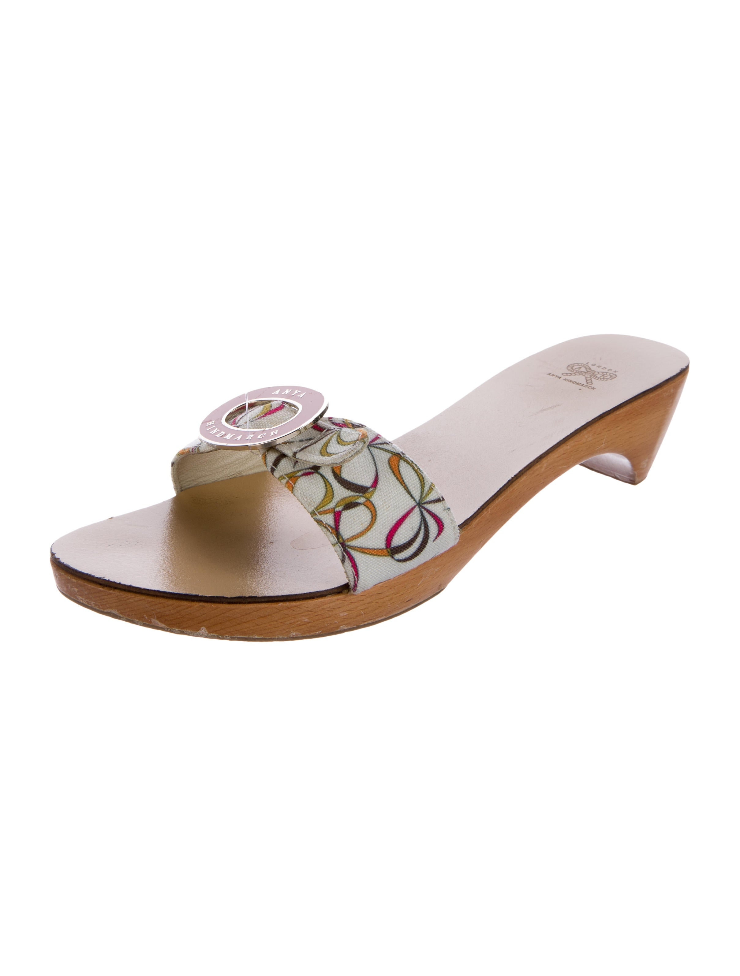 anya hindmarch canvas slide sandals shoes wah22282