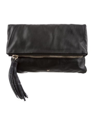 Anya Hindmarch Stingray-Trimmed Huxle Clutch