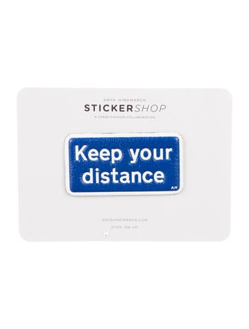 Anya Hindmarch Keep Your Distance Sticker None