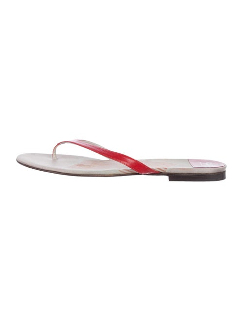 Anya Hindmarch Leather Thong Sandals