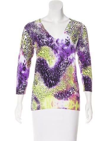 Alberto Makali Printed Knit Top None