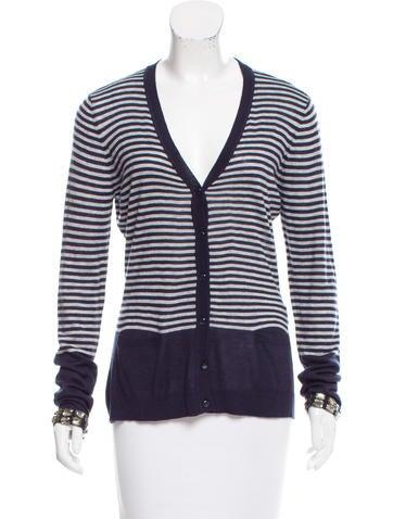 Armani Jeans Striped V-Neck Cardigan None