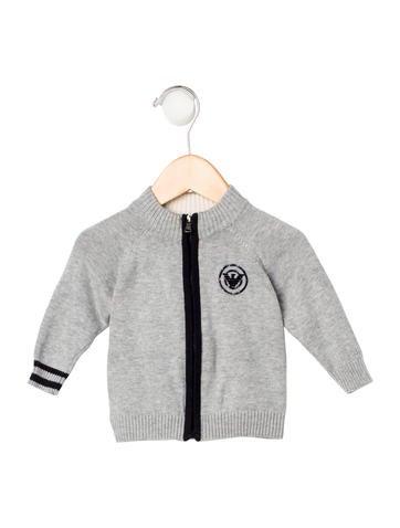 Armani Junior Boys' Striped Rib Knit Cardigan None