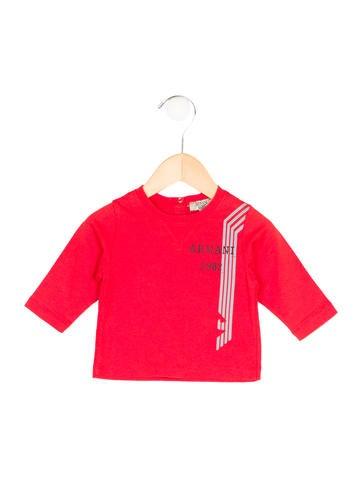 Armani Junior Boys' Logo Print Long Sleeve Shirt None