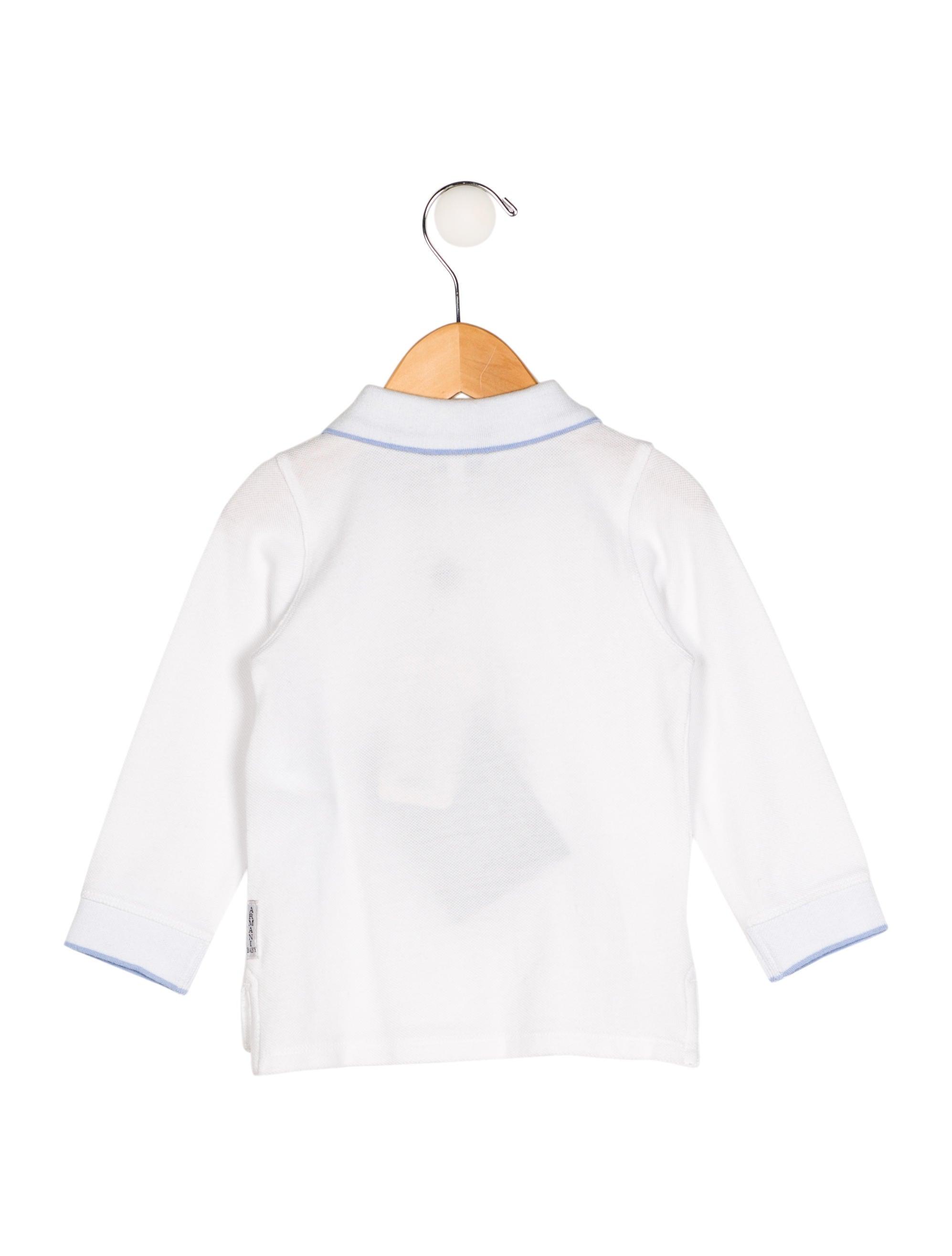 Armani junior boys 39 long sleeve polo shirt w tags boys for Long sleeved polo shirts for boys