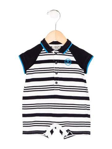 Armani Junior Boys' Striped Polo All-In-One None