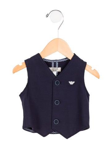 Armani Junior Boys' Knit Button-Up Vest w/ Tags None
