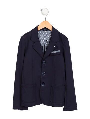 Armani Junior Boys' Knit Peak-Lapel Blazer None