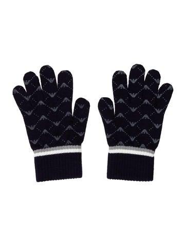 Armani Junior Boys' Logo Knit Gloves None