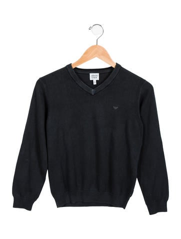 Armani Junior Boys' V-Neck Long Sleeve Sweater None