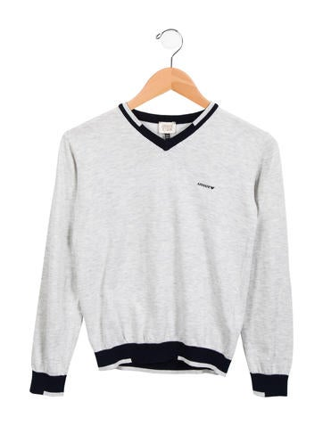 Armani Junior Boys' Long Sleeve V-Neck Sweater w/ Tags None