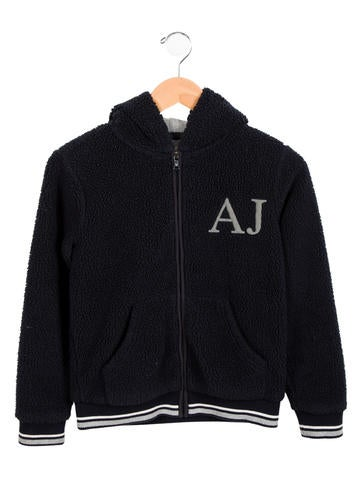 Armani Junior Boys' Textured Zip-Up Sweatshirt None