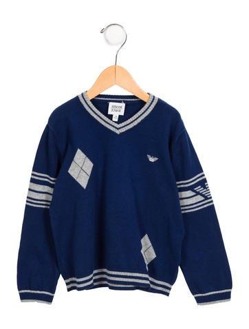 Armani Junior Boys' V-Neck Sweater None