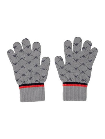 Armani Junior Boys' Logo Knit Gloves None