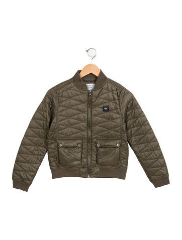 Armani Junior Boys' Quilted Logo Jacket None