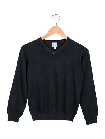 Armani Junior Boys' V-Neck Long Sleeve Sweater None