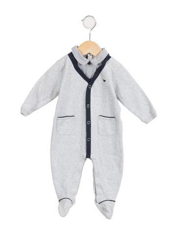 Armani Junior Boys' Knit Logo All-In-One None