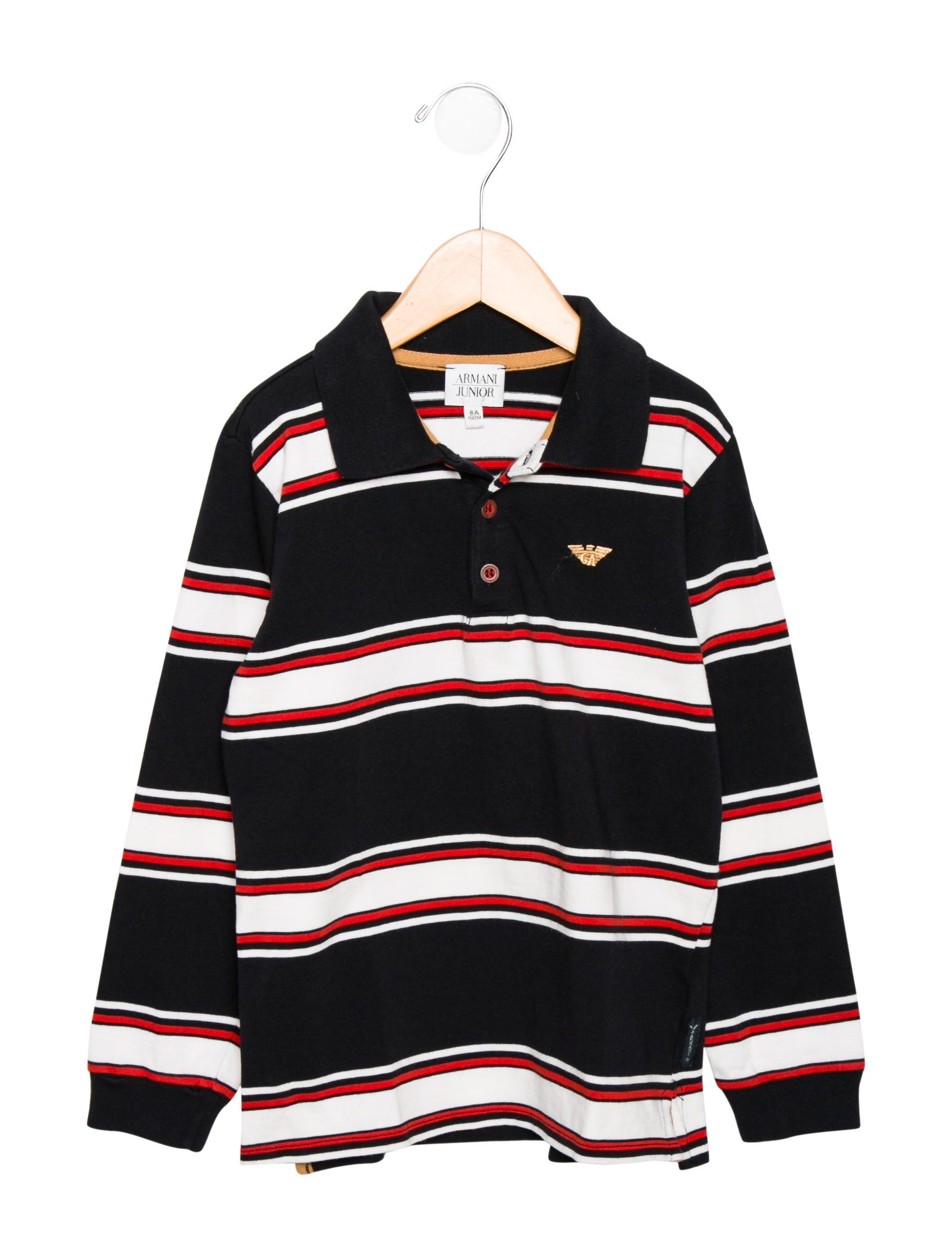 e637a5c5 Armani Junior Boys' Striped Polo Shirt - Boys - WAJUN21993 | The ...