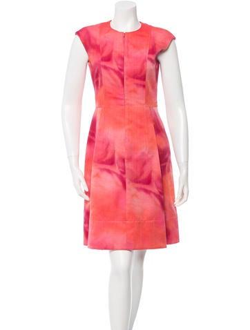 Sleeveless Watercolor Dress