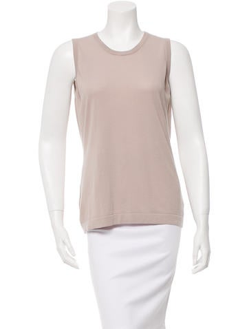 Akris Punto Sleeveless Crew Neck Top None