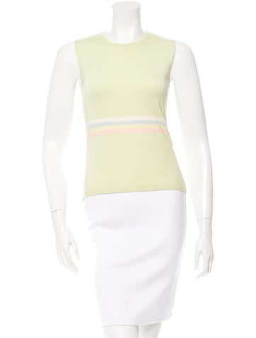 Akris Punto Sleeveless Knit Top None