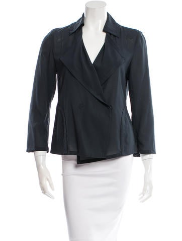 Akris Punto Lightweight Double-Breasted Jacket None
